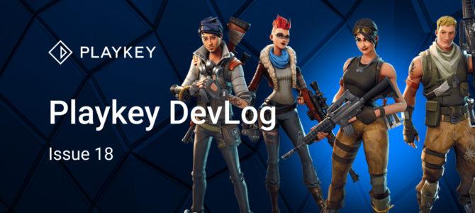 Playkey DevLog. Issue Eighteen