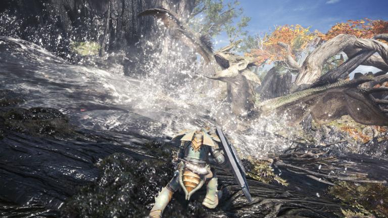 Monster Hunter: World скриншот с драконом