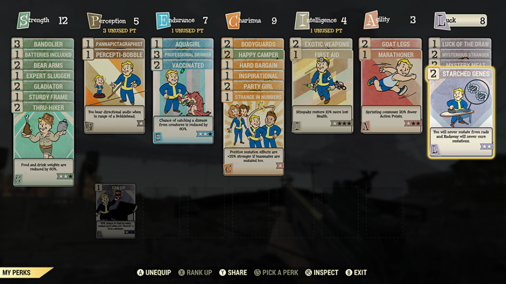 Fallout 76 перки